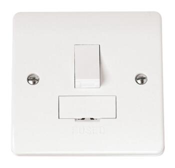 Mode 13A DP Switched Fused Spur - White
