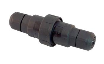 IP68 Inline Waterproof Cable Connector - CC68-1 - Black