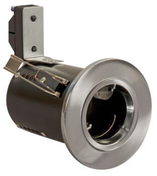 Brushed Chrome Di-Cast Fire-Rated Downlight - 240V GU10