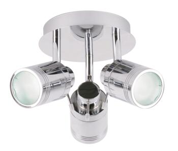 Scorpius 3 Light Spotlight Fitting IP44 - Chrome