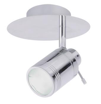 Scorpius Single Spotlight Fitting IP44 35W - Chrome
