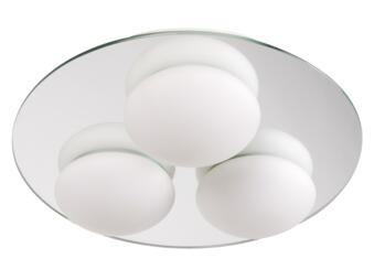 Corona Flush Fitting IP44 75W - Frosted Glass/Chrome