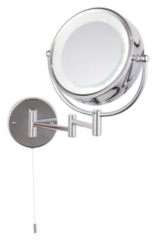 Apus Circular LED Mirror IP44 2.24W - Chrome/Mirrored Glass