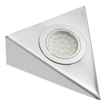LED Under Cabinet Light Triangle - 1.6W 12V - 1 Fitting With Warm White LED