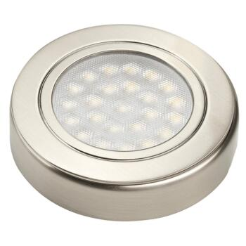 12v Surface Round LED Under Cabinet Light- 1.6W - 1 Fitting With Cool White LED
