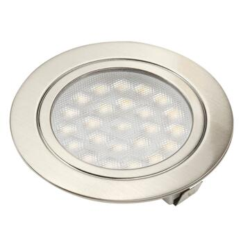 Stainless Steel Recessed LED Downlight 1.6W - 1 Fitting With Cool White LED