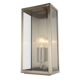Minerva Stainless Steel Box Lantern Fitting IP44 60W - Stainless Steel