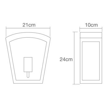 Artemis Stainless Steel Curved Box Lantern Fitting IP44 60W - Stainless Steel