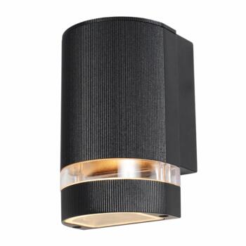 Helios Up Or Down Wall Light IP44 35W - Black Finish