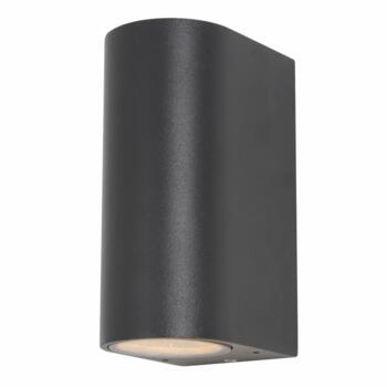 Antar Black Up/Down Wall Light - IP44 70W