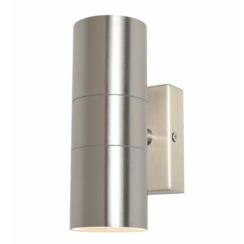 Leto Up/Down Wall Light IP44 35W - Stainless Steel