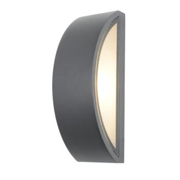 Selene Anthracite Curved Wall Light IP44 60W - Anthracite Grey