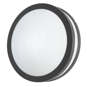 Hecate Anthracite LED Round Bulkhead IP44 8W - Anthracite
