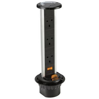 Pop Up Socket - 3 x 240V Worktop Socket - SK006