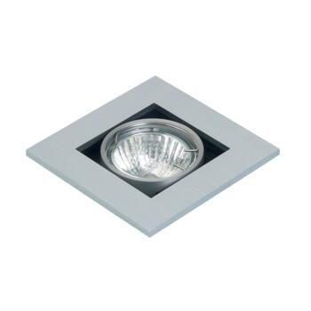 Studio - Single Halogen Ceiling Downlight - GU10 - Brushed Aluminium