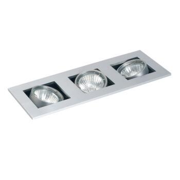 Studio - Triple Halogen Ceiling Downlight - GU10 - Brushed Aluminium