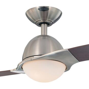 """Westinghouse Solana Ceiling Fan with Light - 72161 - 48"""" Brushed Nickel Finish"""