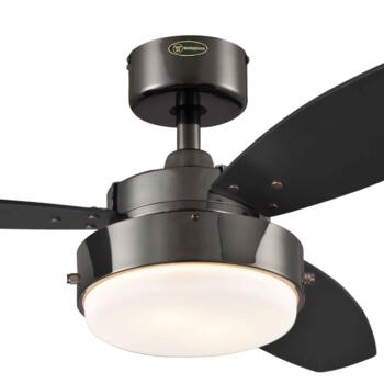 "Westinghouse Alloy Ceiling Fan with Light 78764 - 42"" Gun Metal Finish"