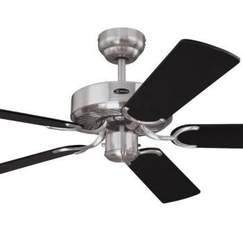 "Westinghouse Cyclone Ceiling Fan - 52"" Brushed Steel"