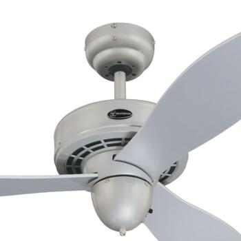 "Westinghouse Airplane Ceiling Fan - 42"" Silver"