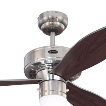 """Westinghouse Airplane II Ceiling Fan with Light - 42"""" Brushed Nickel"""