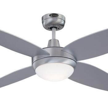 "Westinghouse Havanna Ceiling Fan with Light - 52"" Brushed Aluminium Finish"