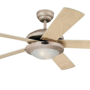 "Westinghouse Comet Ceiling Fan with Light - 52"" Titanium"