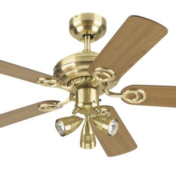 "Westinghouse Ceiling Fan with Light - 72122-78535 - 42"" Satin Brass"
