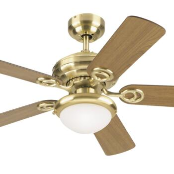 "Westinghouse Ceiling Fan with Light - 72122-78532 - 42"" Satin Brass"