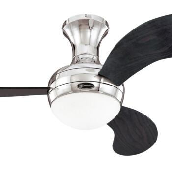 "Westinghouse Celestia Ceiling Fan with Light - 44"" Chrome Finish"