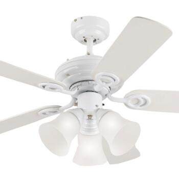 "Westinghouse Ceiling Fan with Light - 72105-78528 - 42"" White"