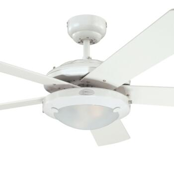 """Westinghouse Comet Ceiling Fan with Light - 78017 - 52"""" White"""
