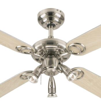 """Westinghouse Pearl Ceiling Fan with Light  - 42"""" (1050mm) Stainless Steel"""