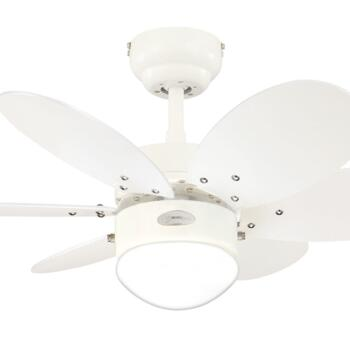 "Westinghouse Turbo II Ceiling Fan with Light - 30"" White"