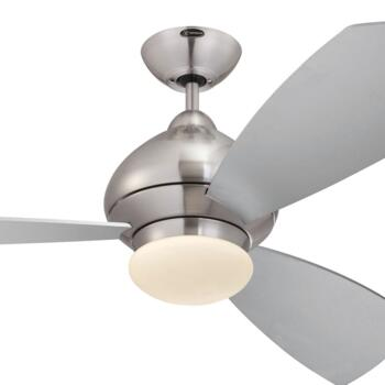 "Westinghouse Fantastic Ceiling Fan with Light  - 52"" Brushed Chrome Finish"
