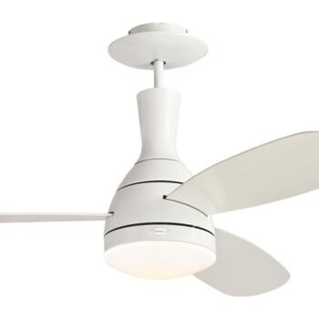 """Westinghouse Cumulus Ceiling Fan with Light - 48"""" White"""