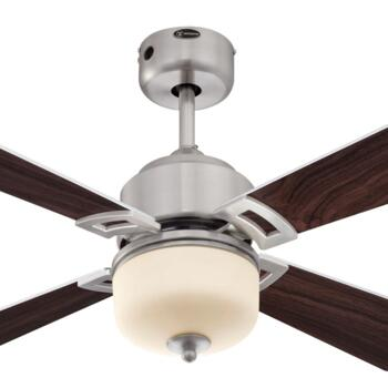 "Westinghouse Athena Ceiling Fan with Light - 42"" Antique Nickel"