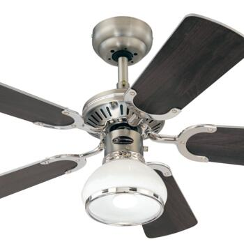 "Westinghouse Princess Radiance Ceiling Fan -Pewter - 36"" Dark Pewter and Chrome"