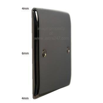 Slim Black Nickel Light Switch 10AX 2 Way - Single Light Switch - 1 Gang 2 Way