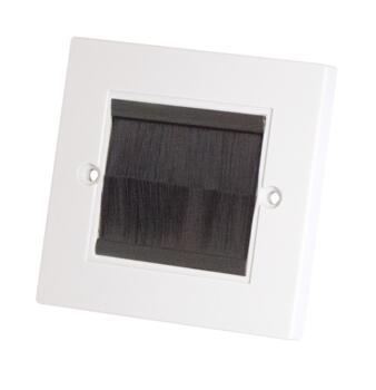 Media Brushplate Socket White - Single