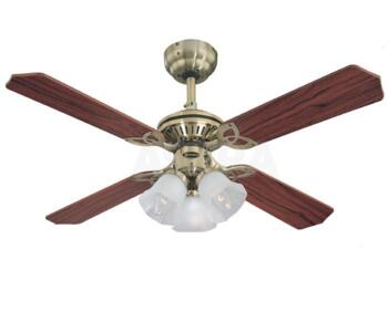 "Westinghouse Princess Trio Ceiling Fan - Ancient  - 42"" Ancient Brass"