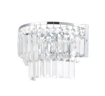 Belle Chrome Chandelier IP44 56W - Glass