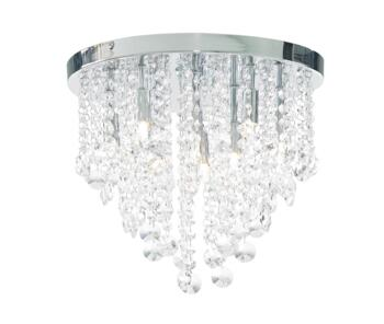 Celeste Chrome Chandelier IP44 252W - Glass