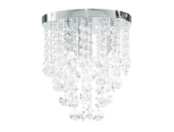 Celeste Chrome Chandelier IP44 112W - Glass