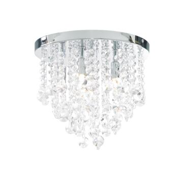 Celeste Chrome Chandelier IP44 168W - Glass