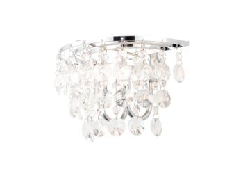 Celeste Chrome Chandelier IP44 56W - Glass