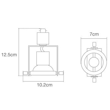 Ribalta GU10 Black Track Spotlight System - Black GU10 Fitting 50W