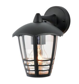 Perdita Aluminium 6 Sided Outdoor Lantern - Black Finish