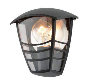 Perdita Aluminium Outdoor Half Lantern - Black Finish