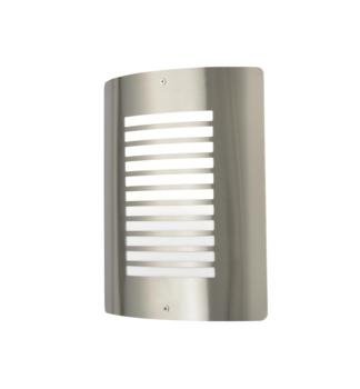 Sigma Panel Slatted Wall Light - Stainless Steel